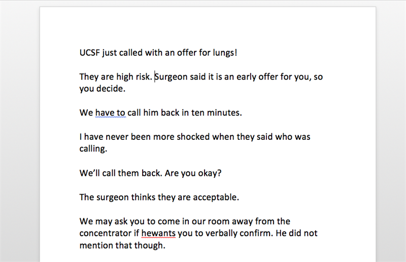 UCSF Just Called Email