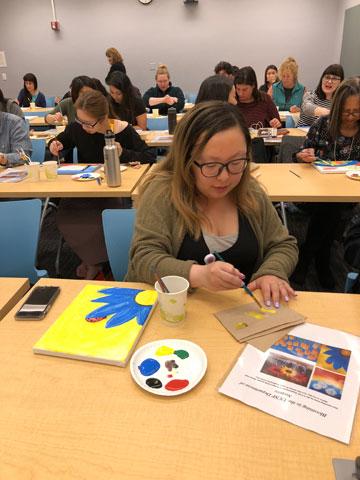 Parnassus Campus Painting TWO