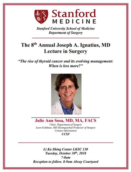 Department of Surgery - Julie-Ann-Sosa--MD--MA--FACS-Delivers-8th