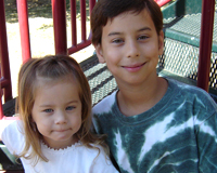 Brother and Sister Share Special Hearts